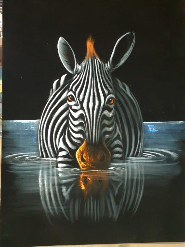River Zebra Paint Good Fundi